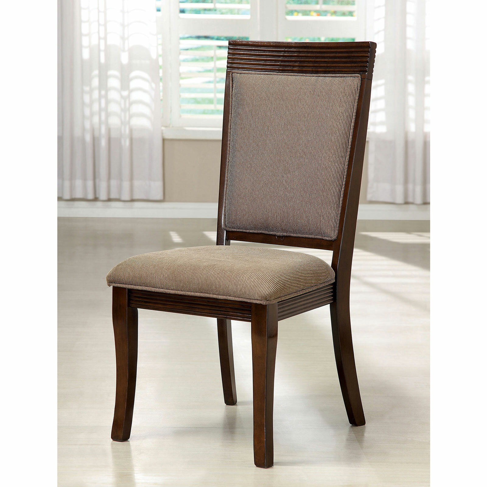 Darby Home Co Schreiner Upholstered Side Chair In Walnut Wayfair