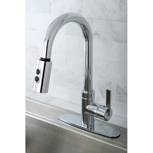Kingston Brass Continental Gourmetier Single Handle Kitchen Faucet with Pull Down Spout