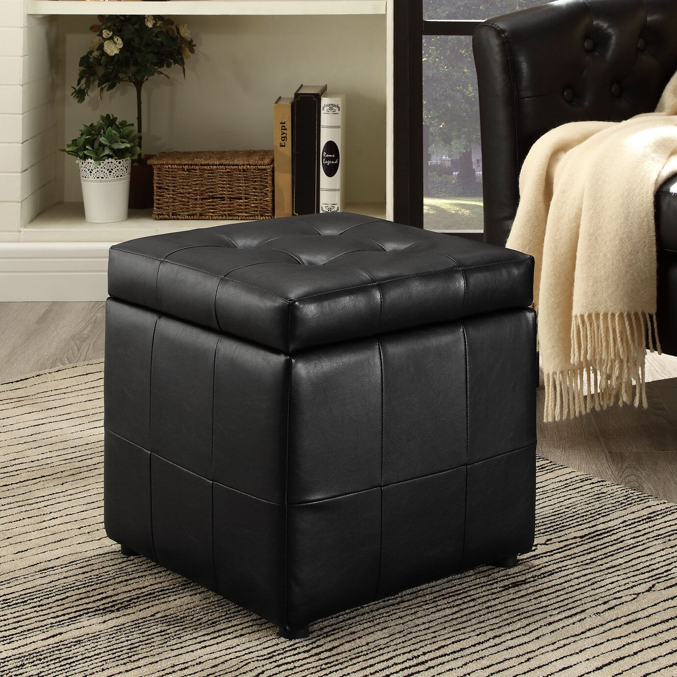 Caroline Storage Cube Ottoman - Zipcode™ Design Caroline Storage Cube Ottoman & Reviews Wayfair