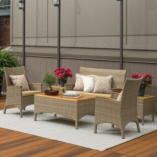 Navarette 6 Piece Sunbrella Sofa Set with Cushions