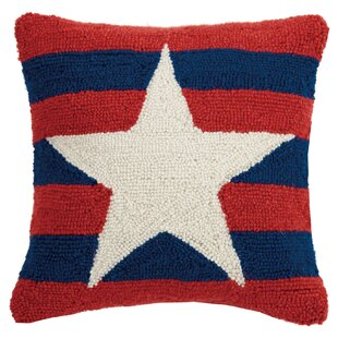 Sayles Star and Stripes Wool Throw Pillow