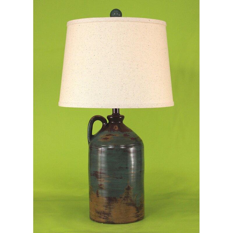 Union Rustic Cannonleague Handle Pottery Jug 27 5 Table Lamp Reviews Wayfair