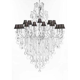 Astoria Grand Poynter 25-Light Shaded Chandelier