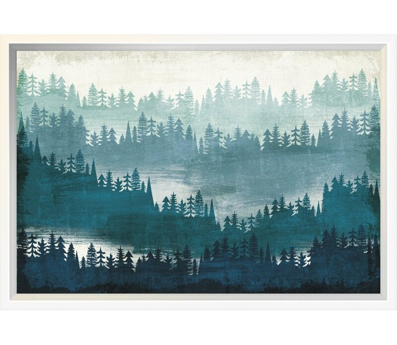 East Urban Home Mountainscape Blue Graphic Art Print On Canvas Wayfair