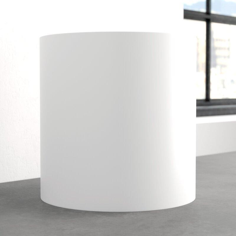 """Mercury Row  Sheilds Cylinder Fiberglass Pot Planter Size: 16"""" H x 16"""" W x 16"""" D, Color: White"""