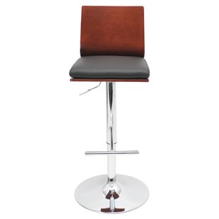 Triche Adjustable Height Swivel Bar Stool Wade Logan