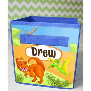 Searching for Dinosaur Personalized Fabric Bin ByToad and Lily