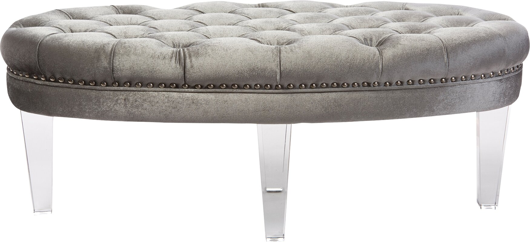 Baxton studio brighton button tufted upholstered modern bedroom bench - Default_name