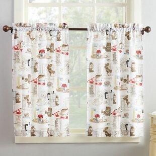 Kitchen Curtains Wine Theme | Wayfair