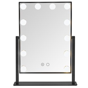 Best Choices EmeraldCove 12 LED Bulb Makeup/Shaving Mirror By Symple Stuff