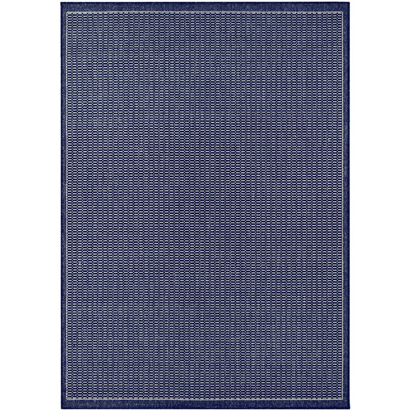 Trent Austin Design Cadencia Saddle Stitch Blue Indoor Outdoor Area