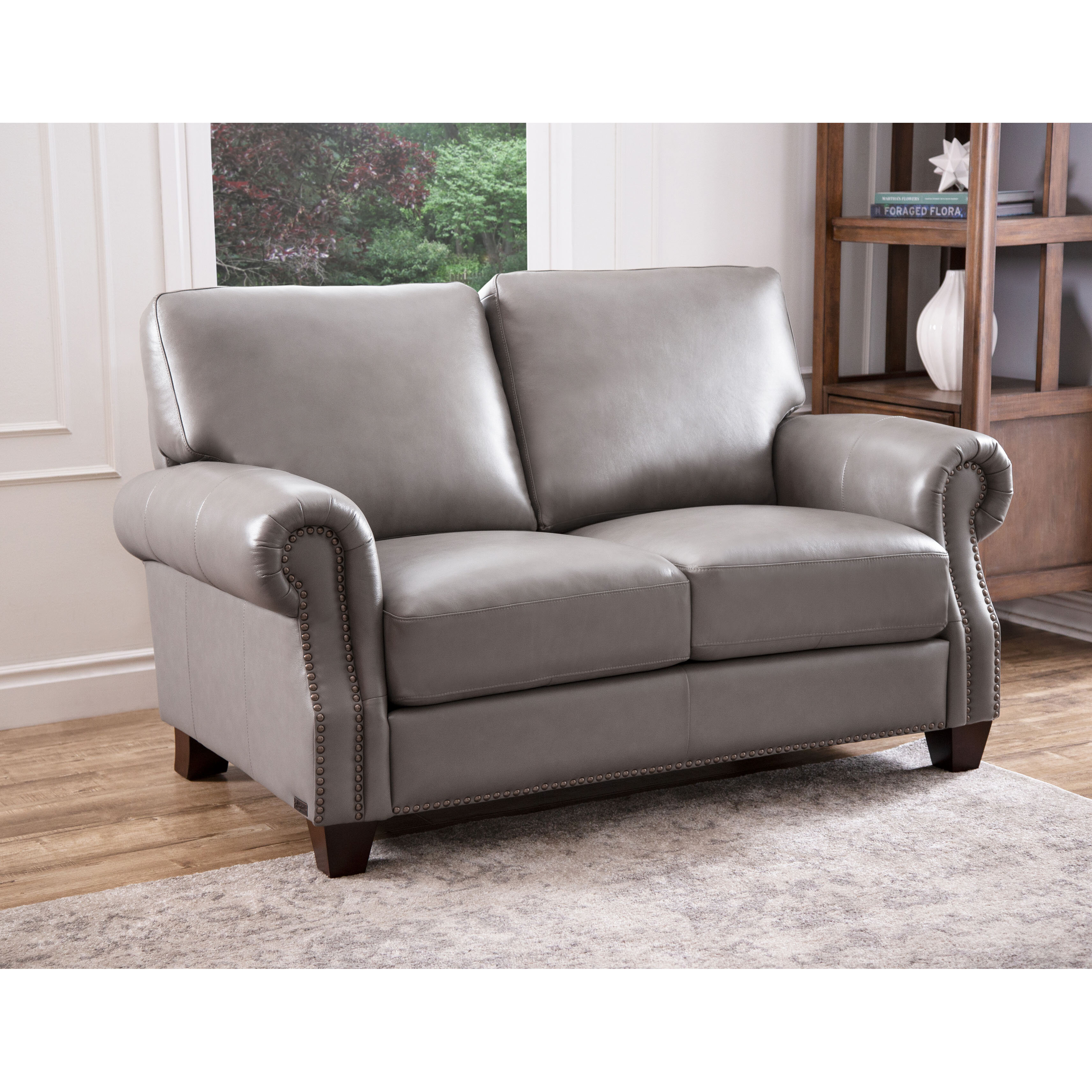 Brilliant Whipton Leather Loveseat Gmtry Best Dining Table And Chair Ideas Images Gmtryco