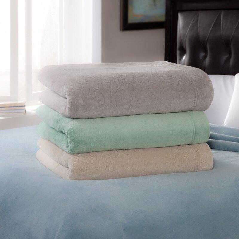 Serta Luxe Plush Micro Fleece Electric Blanket
