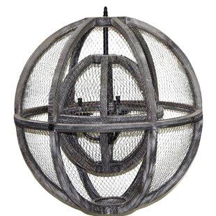 Gracie Oaks Logsdon 5-Light Globe Chandelier