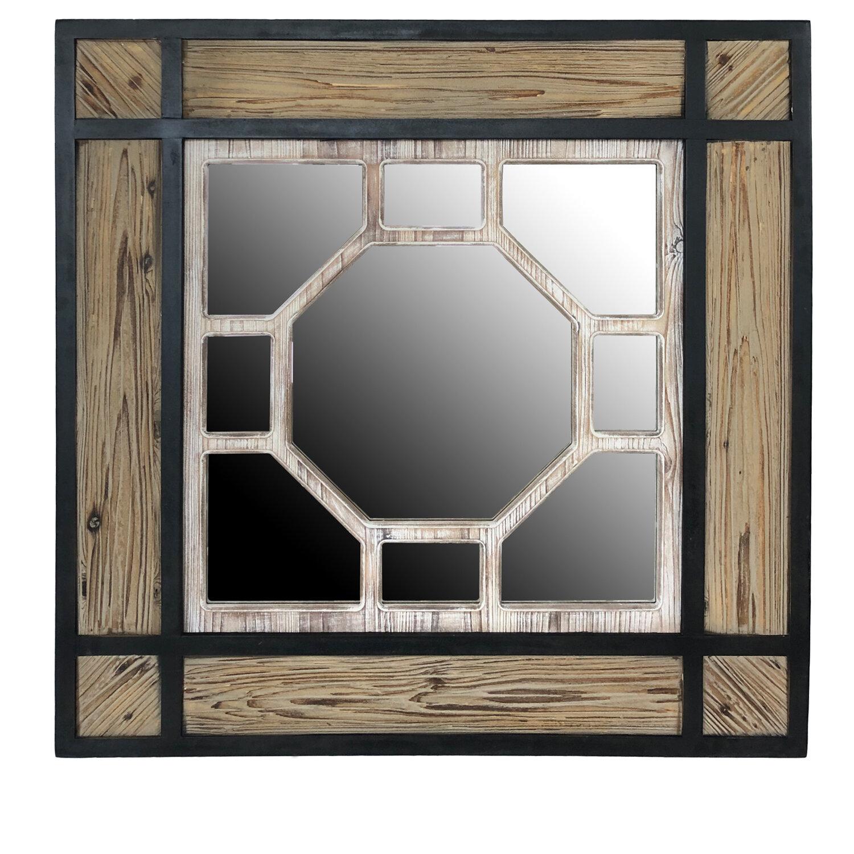 Gracie Oaks Ruiz Decorative Rustic Distressed Wall Mirror Wayfair
