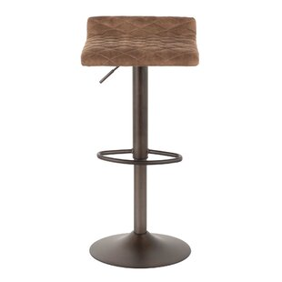 Morgana Adjustable Height Swivel Bar Stool Wade Logan