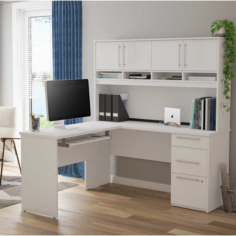 Symple Stuff Altha Plus L Shaped Computer Desk With Hutch