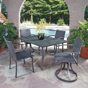 Home Styles Stone Veneer 5 Piece Dining Set