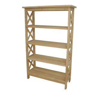 International Concepts Unfinished Wood 4 Tier Etagere Bookcase