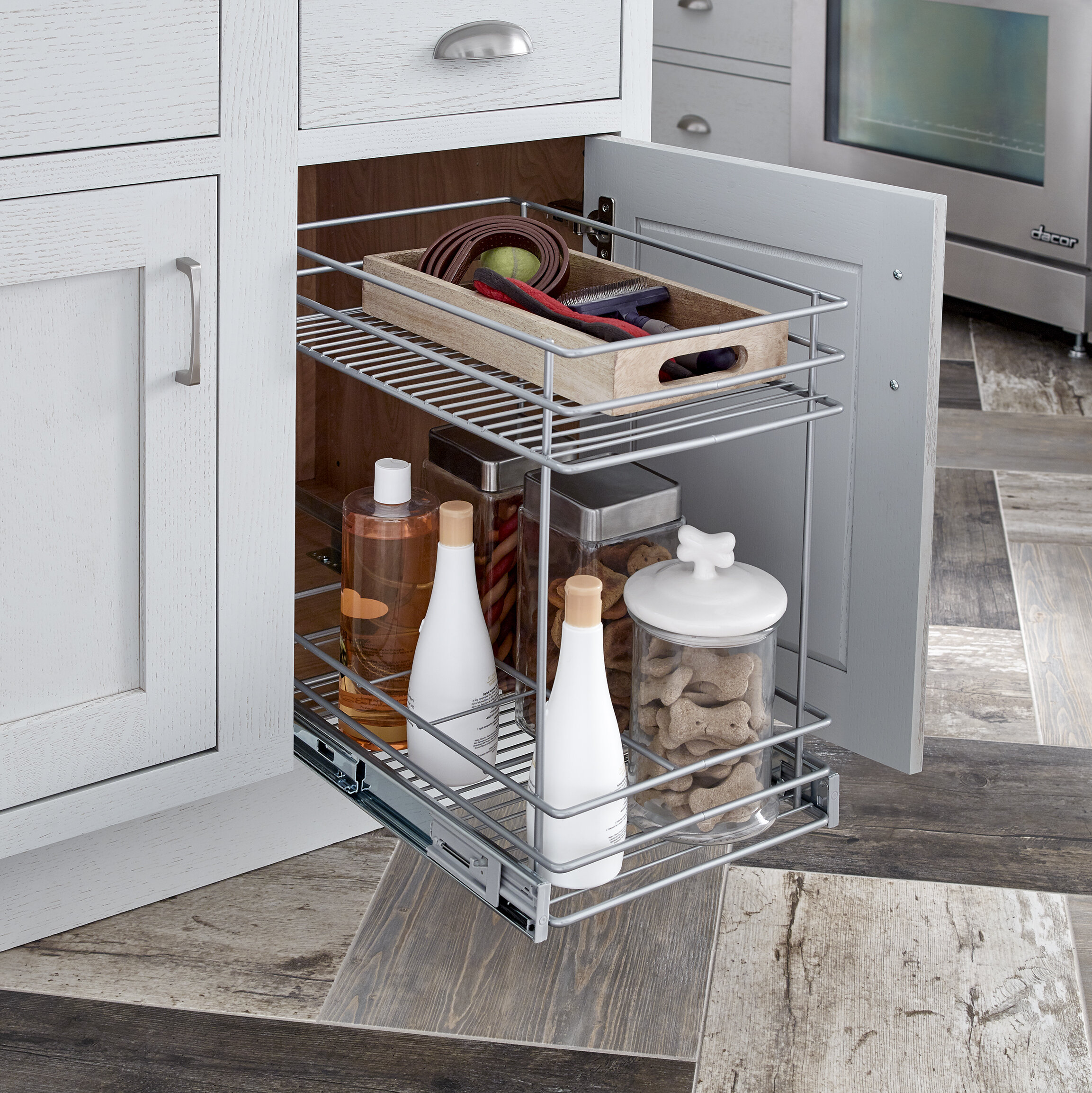 sliding organizer roll wayfair inch shelf a rev out lynk cookware x tier under reviews cabinet pull deep double tabletop pdx kitchen chrome wide two