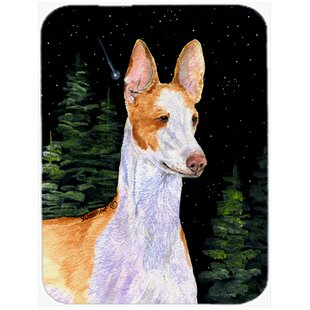 Starry Night Ibizan Hound Glass Cutting Board By Caroline's Treasures