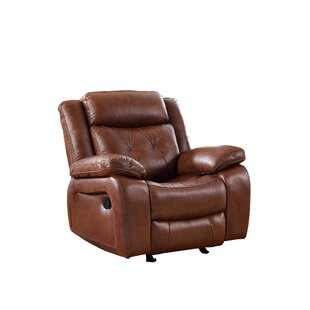 Casto Leather Recliner Red Barrel Studio