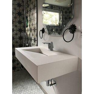 Pyramid Stone 35 inch  Wall Mount Bathroom Sink