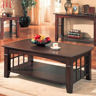 Choate Transitional Solid Wooden Coffee Table
