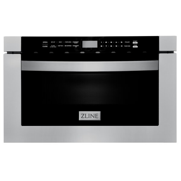 Zline Kitchen And Bath Studio 24 1 2 Cu Ft 1000 Watt Microwave Drawer Reviews Wayfair