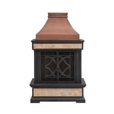 Outdoor Wood Burning Fireplace | Wayfair on Quillen Steel Wood Burning Outdoor Fireplace id=92144