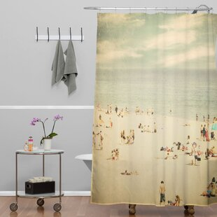 Shannon Clark Vintage Beach Single Shower Curtain