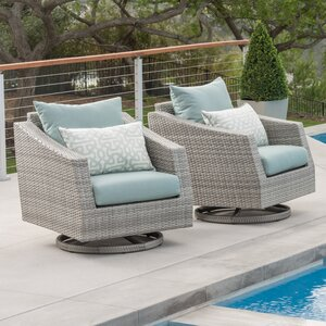 Alfonso Motion Club Chair with Cushion (Set of 2)