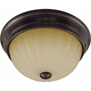 Troy 2-Light Semi Flush Mount by Volume Lighting