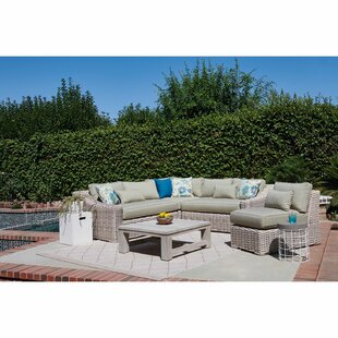 Dartford 5 Piece Outdoor Rattan Sectional Seating Group with Cushions