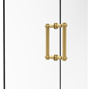 Contemporary 8 Back to Back Shower Door Pull with Twisted Accent by Allied Brass