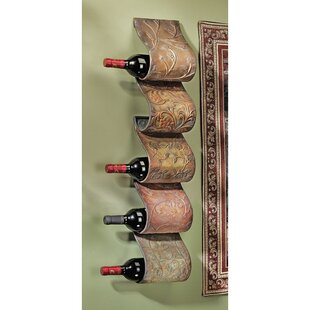 Cafe De Paris 5 Bottle Wall Mounted Wine Rack by Design Toscano