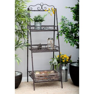 Cole & Grey 3 Tier Ladder Bookcase