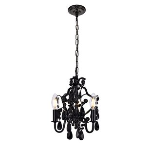 Black chandeliers youll love wayfair cadmore 3 light mini chandelier aloadofball Choice Image