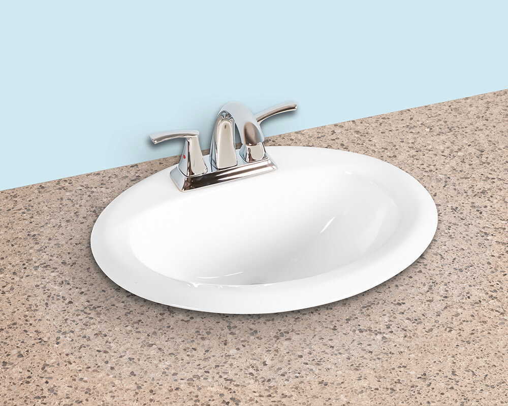 Winfield Products Ceramic Oval Drop In Bathroom Sink With Overflow Wayfair