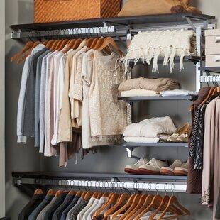 Coupon Arrange A Space Best 116W Closet System with Adjustable Shelves ByOrginnovations Inc