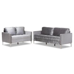 Inexpensive Jennings 2 Piece Living Room Set by Mercer41 Reviews (2019) & Buyer's Guide