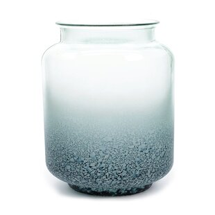 Seaside Treasures Frosted Ombre Decorative Glass Jar Vase by Northlight Seasonal