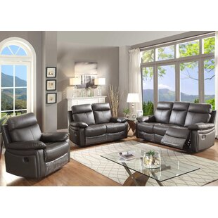 Ryker Reclining 3 Piece Living Room Set b..