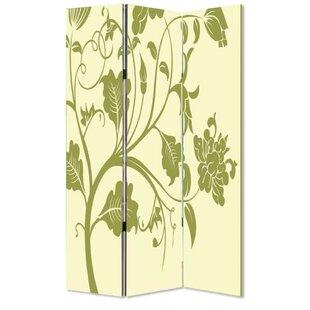 Charlita Canvas and Wood 3 Panel Room Divider by Rosalind Wheeler