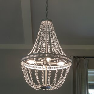 House of Hampton Weidman 4-Light Crystal Chandelier