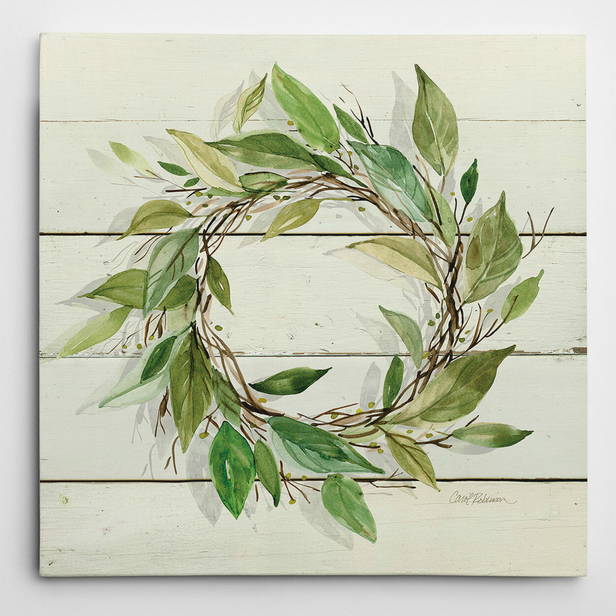 Gracie Oaks Bay Leaf Wreath By Carol Robinson Painting Print On Wrapped Canvas Reviews Wayfair