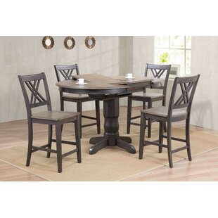 Iconic Furniture Double X- Back Counter Height 5 Piece Pub Table Set