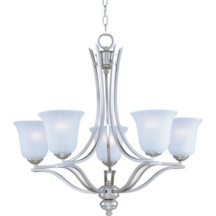 Mansfield Modern 5-Light Shaded Chandelier by Charlton Home