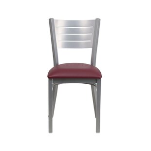 Jezebel Restaurant Metal Upholstered Dining Chair by Ebern Designs