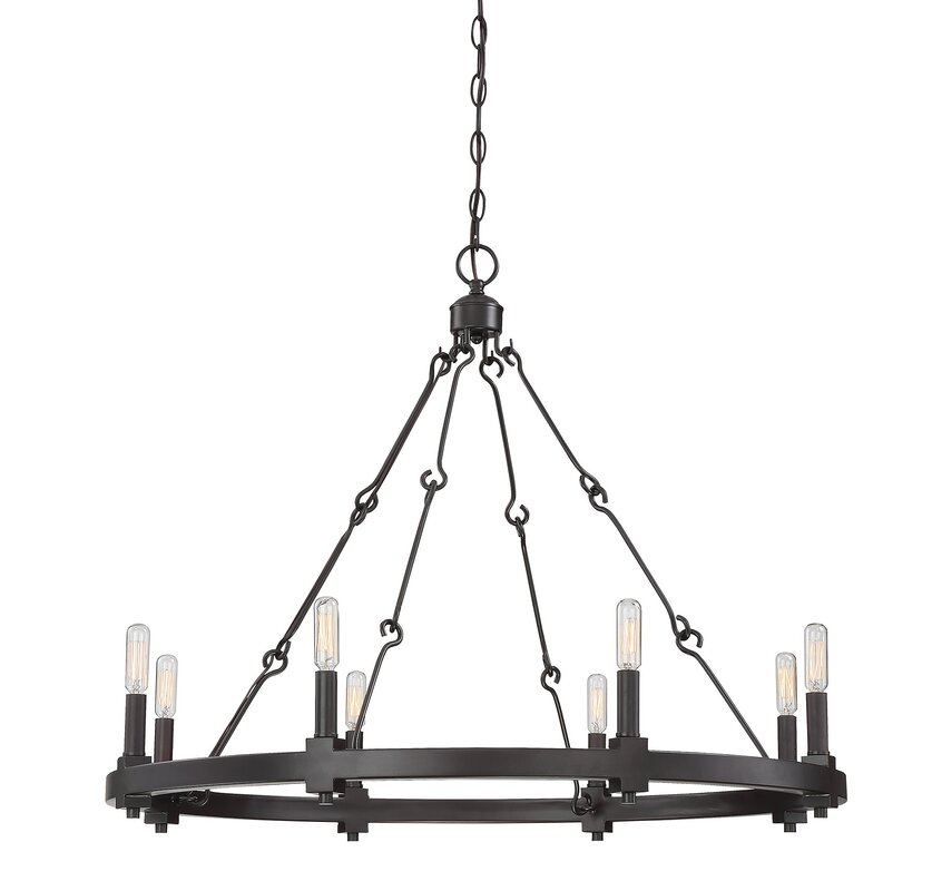 Laurel foundry modern farmhouse montreal 8 light candle style montreal 8 light candle style chandelier mozeypictures Gallery